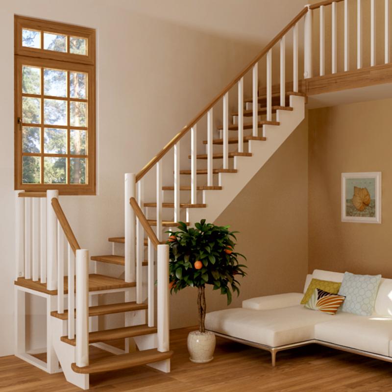 варианты простых деревянных лестниц фото