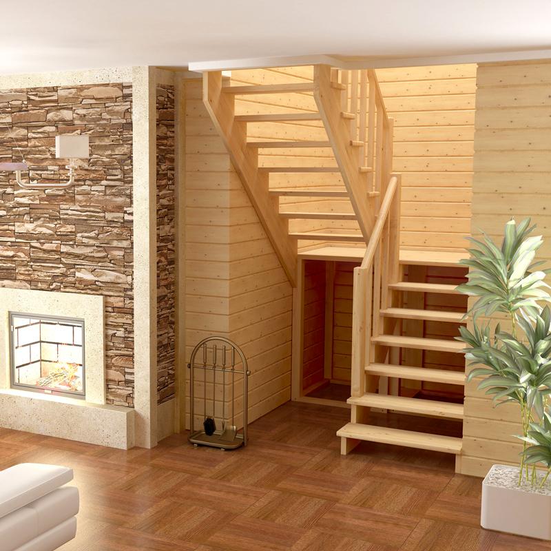 Компактная лестница на второй этаж фото
